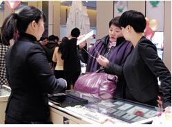 中国金银珠宝零售增逾一成