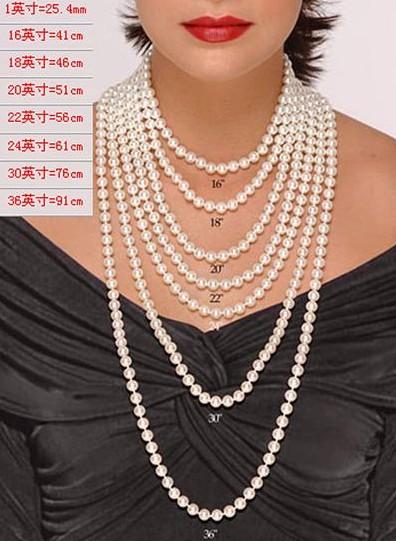 穿戴珍珠项链有讲究